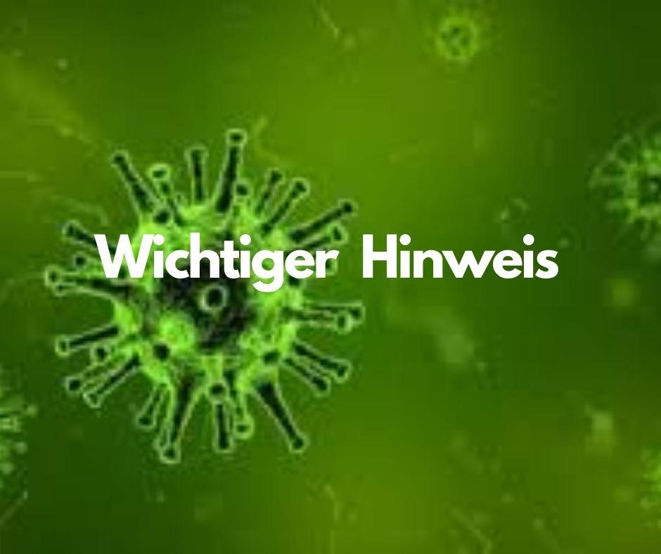 Coronavirus Covid19 Wichtiger Hinweis